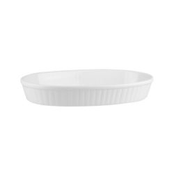 Ribbed Oval Baking Dish - Rolled Edge