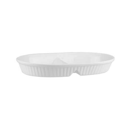 2 Compartment Ribbed Baking Dish