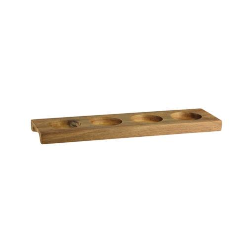 4 Compartment Wooden Ramekin Tray - Round