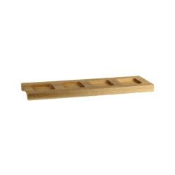 4 Compartment Wooden Ramekin Tray - Square