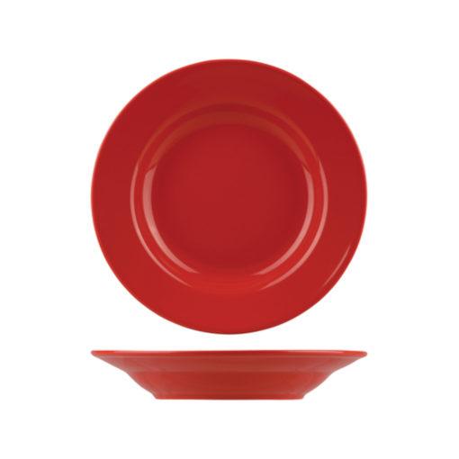 Classicware Red Wide Rim Pasta Bowl