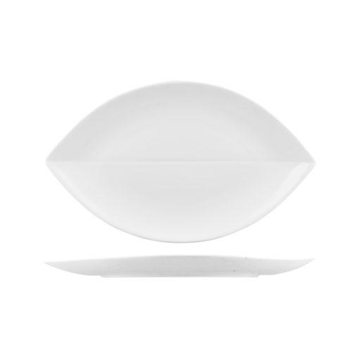 Classicware Leaf Shape Coupe Plates