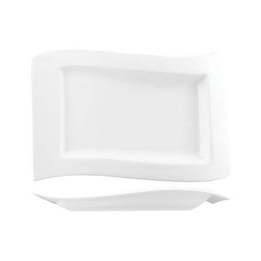 Classicware Wide Rim Rectangular Wave Plates