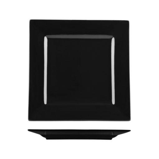 Classicware Wide Rim Black Square Plates
