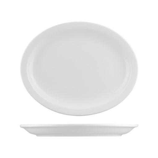 L.F Narrow Rim Oval Plates