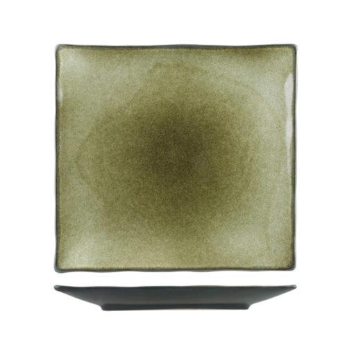 Uniq GreenGrey Square Plates