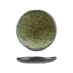 Uniq GreenGrey Small Round Plate