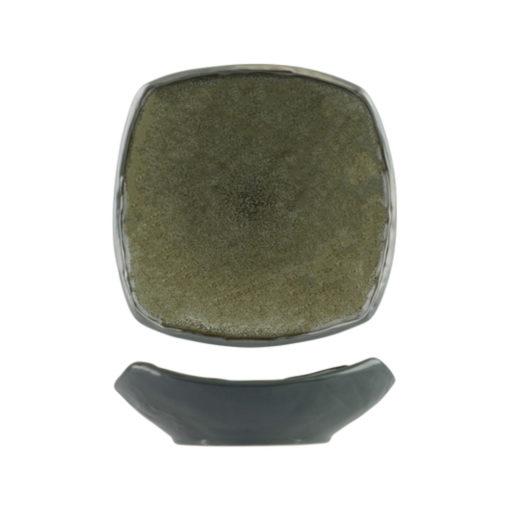 Uniq GreenGrey Flared Square Plates