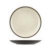 Uniq CreamBrown Round Coupe Plates