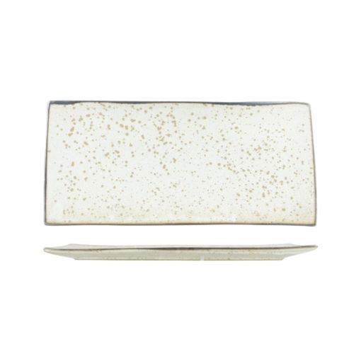 Uniq Speckled Rectangular Platter - Beige