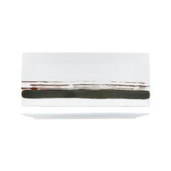 Uniq Green Stripe Rectangular Platter