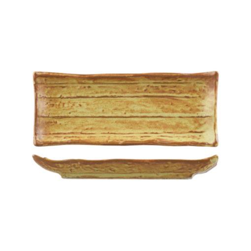 Uniq Brown Striped Rectangular Platters