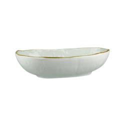 Uniq Light Grey Oval Bowl