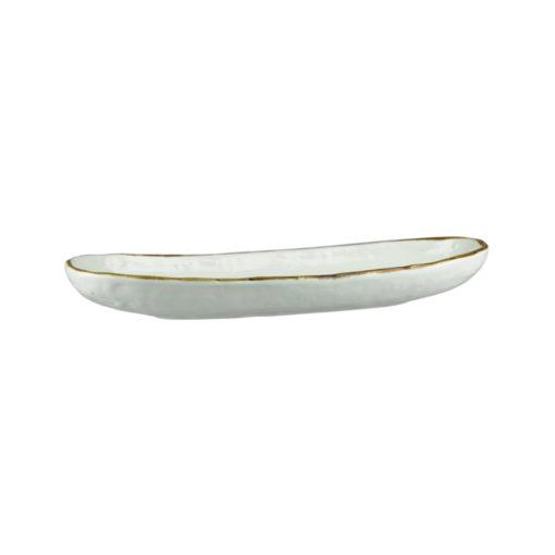 Uniq Light Grey Elongated Oval Bowls