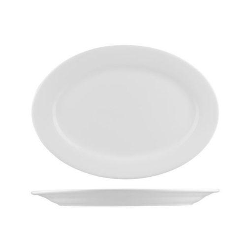 L.F Wide Rim Oval Plates