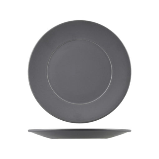 Natural Satin Wide Rim Round Plates