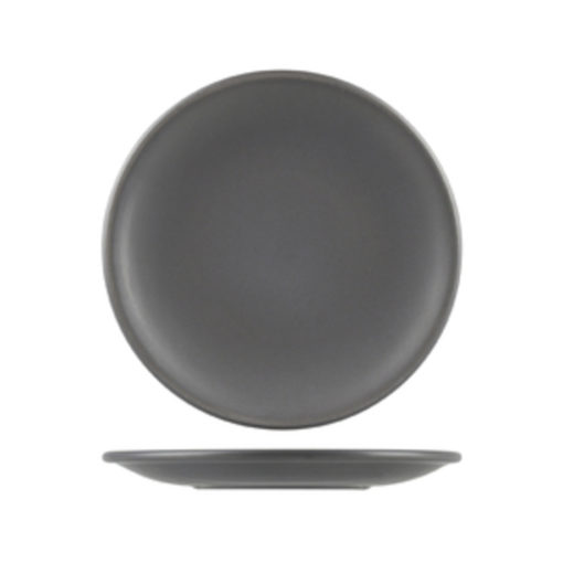 Natural Satin Round Coupe Plates