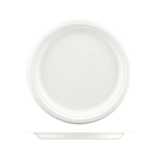 Round Sugarcane Plate