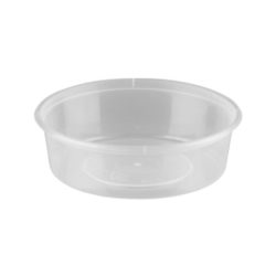 Large Round Clear Containers