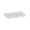 Ribbed Rectangular Clear Lid
