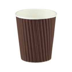 Ripple Wrap Cup - Chocolate Brown