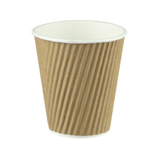 Ripple Wrap Cup - Natural Brown