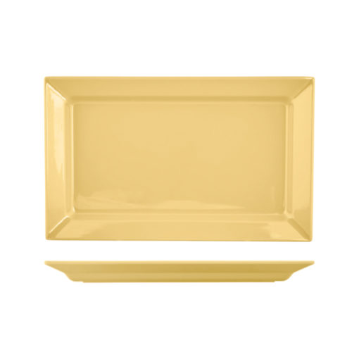Slant Rim Rectangular Platters