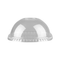 PET Clear Slotted Dome Lid